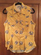 Lee yellow sleeveless shirt - rarely worn - size L