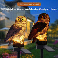 3X Outdoor Solar Power Garden Lights Owl Decor Path Lawn Yard LED Landscape Lamp
