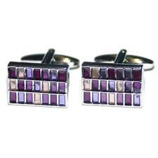 Purples Rectangle Cufflinks in a Cufflink Box X2PSF157