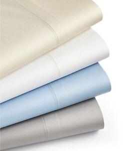 Martha Stewart QUEEN Flat Sheet & 2 STANDARD Pillowcases 350 TC GREY D11003
