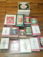 HUGE Lot of Vintage Hallmark Ornaments with Boxes 15 Ornaments