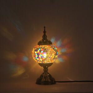 KK Mediterranean Style Bedside Lamp Table Decor Desk Light Fixtures 110V-220V