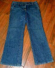 ANN TAYLOR Jeans Original Fit Margo Waist Size 10 Wide Leg Whisker Print 214779
