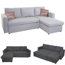Schlafsofa HWC-D92, Couch Ecksofa Sofa, Schlaffunktion 220x152cm Stoff/Textil