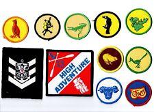 Distintivi scout americani badge lotto di 11 pezzi sea bsa usa