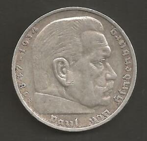 5 Reichsmark Paul von Hindenburg 1935 F   -1602-