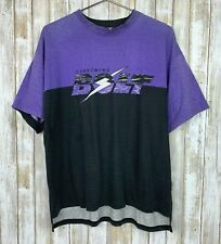 Vintage Lightning Bolt 80s 90s T Shirt Short Sleeve Top Purple Black L Xl Vtg