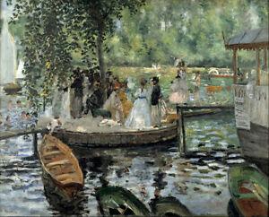 "Canvas Prints  Pierre-Auguste-Renoir "" La-Grenouillère""  Framed Ready to Hang"