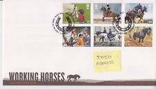 TALLENTS PMK GB ROYAL MAIL FDC FIRST DAY COVER  2014 WORKING HORSES STAMP SET