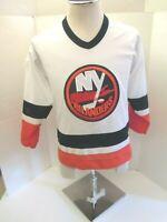 NEW YORK ISLANDERS CCM NHL WHITE YOUTH BOYS L/XL HOCKEY JERSEY - NEW W/O TAGS