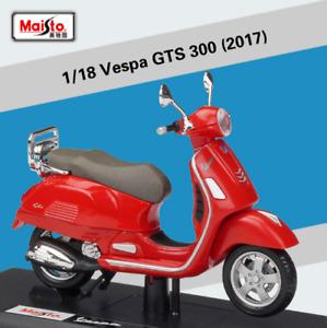 1:18 Maisto Vespa Primavera GTS 150 300 LX125 GTR PK Motorcycle Scooter Model