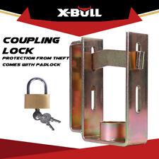 X-BULL Trailer Hitch Coupling Lock Heavy Duty 2 Stage 3 Keys Universal Security