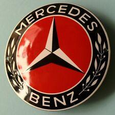 MERCEDES BENZ Stuttgart Tür- Emailschild MAKELLOS Werkstatt Daimler Roter STERN