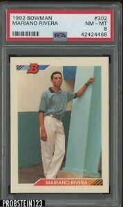 1992 Bowman #302 Mariano Rivera New York Yankees PSA 8 NM-MT