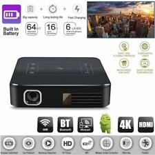 53afbcb3641f6a HD 4k DLP Home Mini Theater Cinema Projector Android Dual WiFi 1080p 2g 16g  HDMI