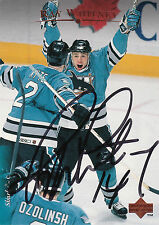 RAY WHITNEY SHARKS AUTOGRAPH AUTO 95-96 UPPER DECK #62 *28232