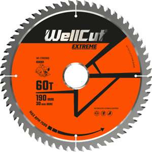Circular Saw Blade 190mm x 60T x 30mm Bore Suitable For HS7100, DWE576,GKS190