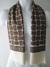 Silk Blend Geometric Vintage Scarves & Shawls