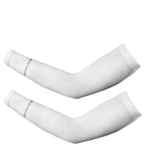 RockBros 2pcs White Oversleeve Summer Arm Sleeves Covers UV Sun Protection