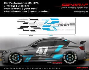 CAR PERFORMANCE SET - Camouflage Seitenstreifen Autoaufkleber - #5_375 -1