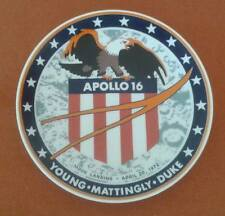 Apollo 16 Ceramic Collectors Plate 1972 Moon Landing by Kesa for Chateau Denmark