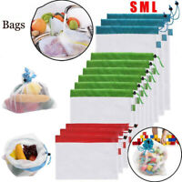 Reusable Mesh Produce Bags Grocery Fruit Vegetable Storage Shopping Eco Bags