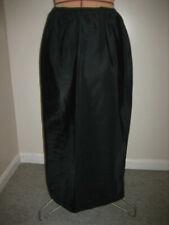 THE SNIP IT Long Black 3 Panel Half Slip, No Lace, Back Slit - 2779 - Size L