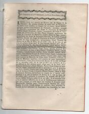 1787 RARE FACTUM BIENVILLE MAITRE DE FORGES HAUTE MARNE BIENVILLE MARNAVAL ETC .