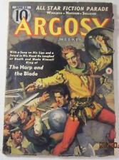 ARGOSY PULP JUNE 22 1940 CORNELL WOOLRICH JOHN MYERS MYERS MAX BRAND