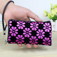 Women Ladies Printing Coins Change Purse Clutch Zipper Zero Wallet Phone Key Bag