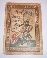 Armorial Crest`s of all Nations Wappen - Malerei um 1900 zum ausmalen Malbuch !