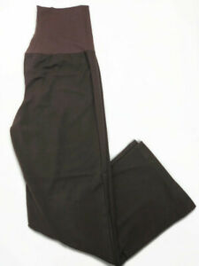 NWOT Mums The Word Maternity Womens Brown Work Pants - Sz XL Pregnancy Trousers