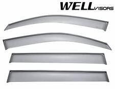 For 08-13 Toyota Highlander WellVisors Clip On Side Window Visors W/ Black Trim