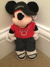 """Mickey Mouse Small GANGSTER APPROX 9"""" Disneyland Paris Plush Soft Toy Disney"""