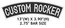 "Custom Embroidered Top Rocker Sew on Patch Motorcycle Biker Badge 13"" (B -1)"
