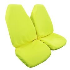 2PCS Throw Over Slip On Yellow Car Seat Covers Easy Fit Most Cars Trucks