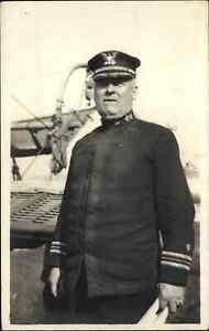 Arctic Bering Sea Captain of USS USCG BEAR Ship c1910 Real Photo Postcard