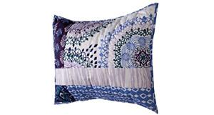 Xhilaration Patchwork Standard Pillow Sham   Purple/Blue   NIP