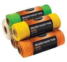 Keson Mason Twine Braided Nylon 250' Roll Yellow 18829