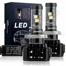 2x High Power H4 9003 CREE 80W 9600LM LED Headlight Kit Bulbs Bright White