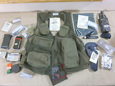 US ARMY Piloten Weste Survival Vest + Inhalt + Funkgerät AN/PRC90 + Light marker