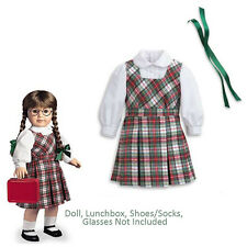 "American Girl MOLLY SCHOOL OUTFIT for 18"" Doll Plaid Clothes Molly's Retired NEW"