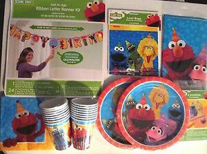 SESAME STREET Birthday Party Supply SUPER Kit w/Jumbo Banner, Loot Bags & More