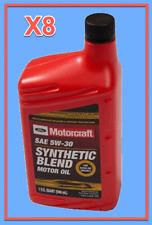 8 X OEM FORD Engine Motor Oil Motorcraft XO5W30QSP SAE 5W-30 Premium Synthetic