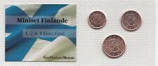 Série euro Finlande 1-2-5 cent 2000-2001-2012