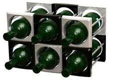 Multi Wine Rack, MWR-126 Black color, stack up to all shape and fit your space
