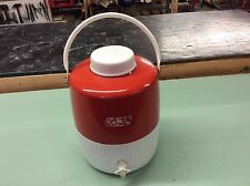 Vintage Coleman Water Cooler, 2 gallon jug w/spout, Metal/Plastic Red & White