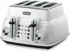 DeLonghi CTZ4003.W Scultura Toaster 4 Slots WHITE 1800W