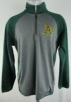 Oakland Athletics A's MLB Men's 1/4 Zip Pullover Soft Shell Track Jacket
