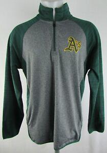 Oakland Athletics A's MLB Men's 1/4 Zip Pullover Soft Shell Track Jacket